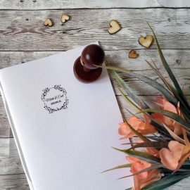 Virág koszorú esküvői pecsét