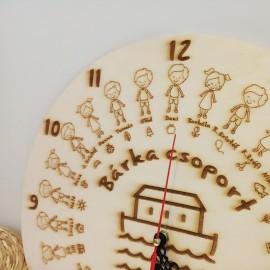 Egyedi óra iskolai, óvodai, bölcsődei ballagásra - nagy méret