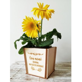Egyedi virág tartó  saját felirattal - pipacsos