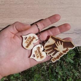 Kéz a kézben kulcstartó