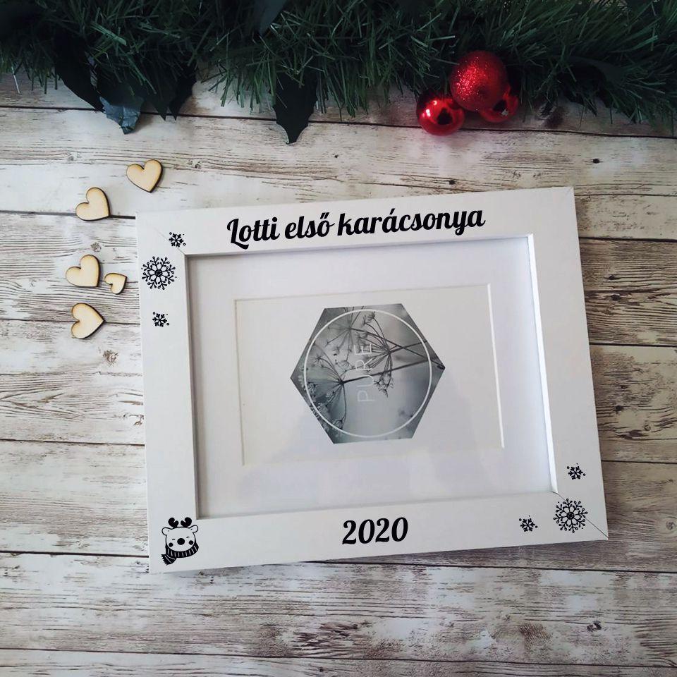 Névre szóló - Első karácsonyom képkeret