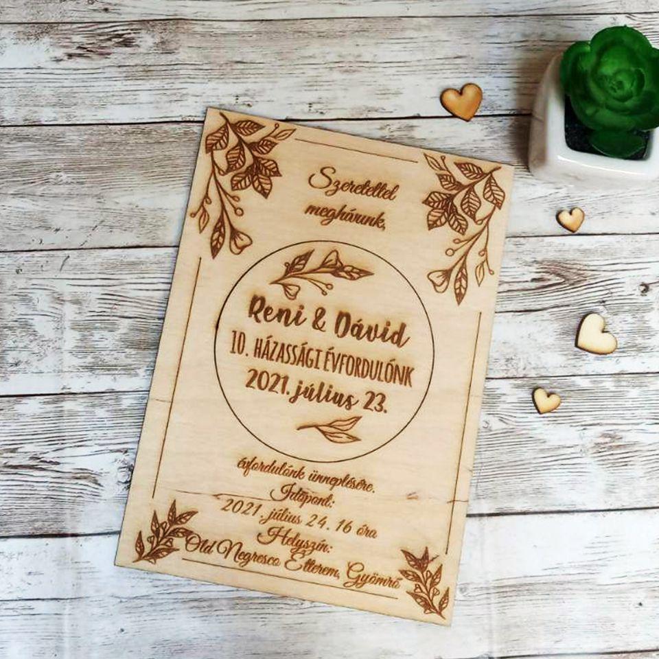 Esküvői meghívó kipattintható hűtőmágnessel