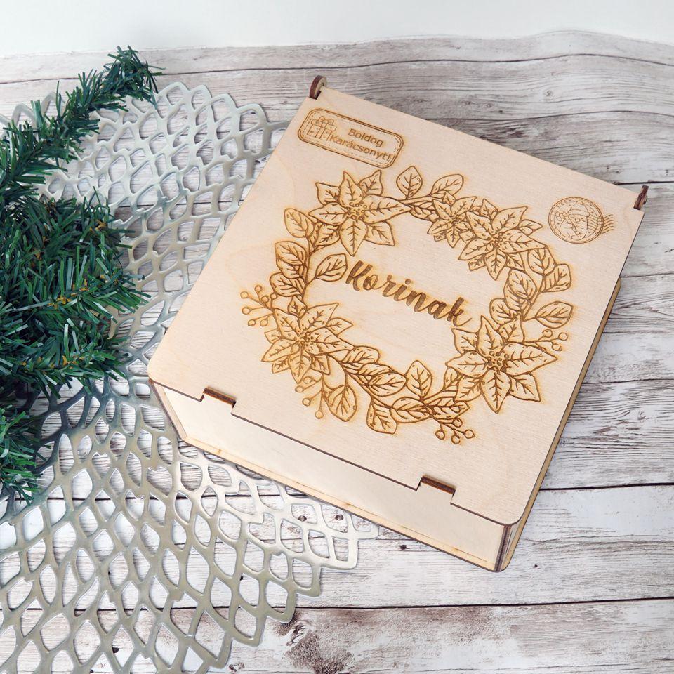 Boldog Karácsonyt névre szóló doboz